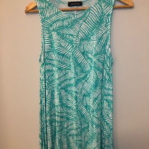 Hourglass Lily Tunic Palm Leaves
